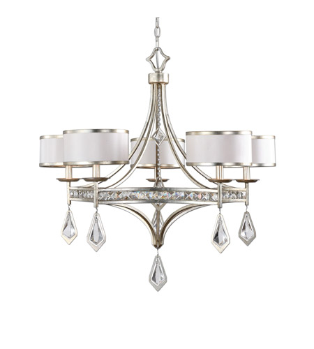 Uttermost 21268 Tamworth 5 Light 34 inch Light Silver Chandelier Ceiling Light