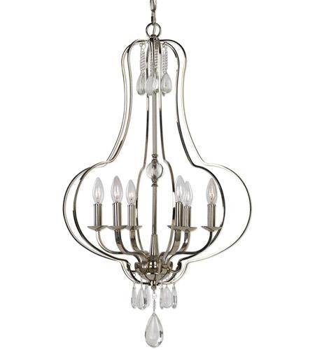 Uttermost 21301 genie 6 light 22 inch polished nickel chandelier uttermost 21301 genie 6 light 22 inch polished nickel chandelier ceiling light photo aloadofball Choice Image
