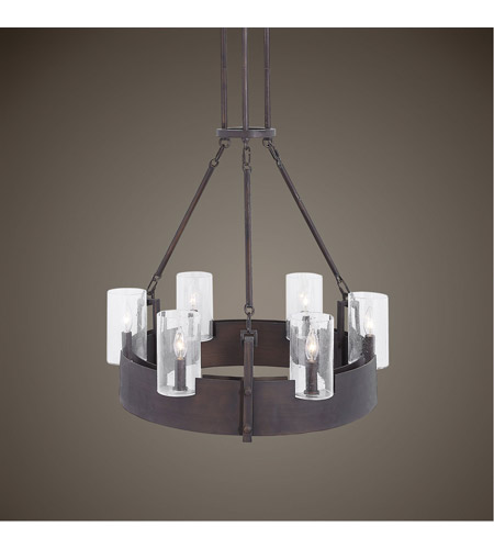 Uttermost 21319 Pinecroft 6 Light 28 inch Burnished Bronze Chandelier Ceiling Light 21319_Lifestyle.jpg