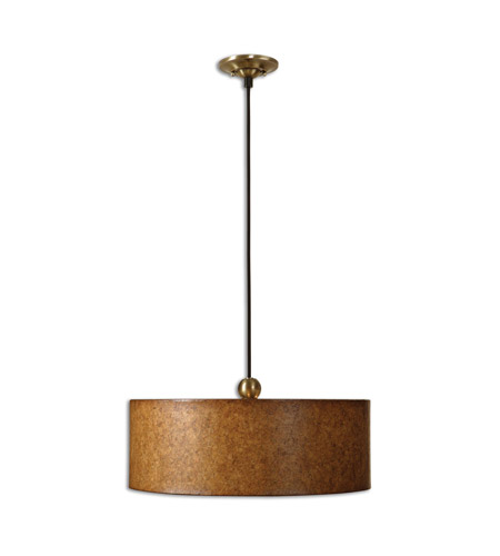 Uttermost Sonoma 3 Lt Hanging Shade in Antiqued Natural Cork 21894 photo