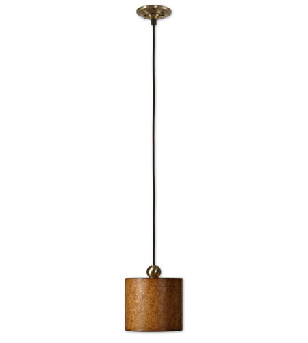 Uttermost Sonoma 1 Lt Mini Hanging Shade in Antiqued Natural Cork 21895