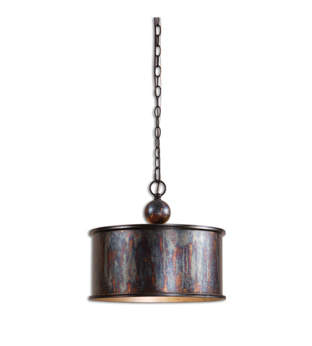 Uttermost 21921 Albiano 1 Light 16 inch Oxidized Bronze Pendant Ceiling Light photo