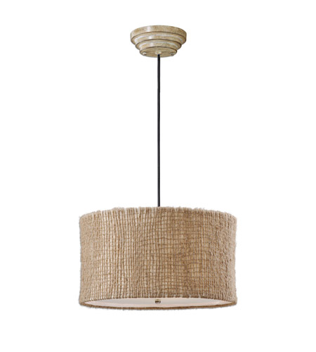 Uttermost Burleson 3 Lt Hanging Shade in Natural Twine 21935 photo
