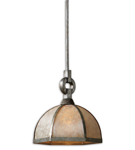 Uttermost Domingo 1 Light Mini Pendant in Champagne Mica 21941 photo