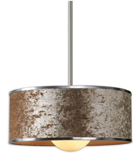 Uttermost Panache 1 Light Pendant in Brushed Nickel 21949