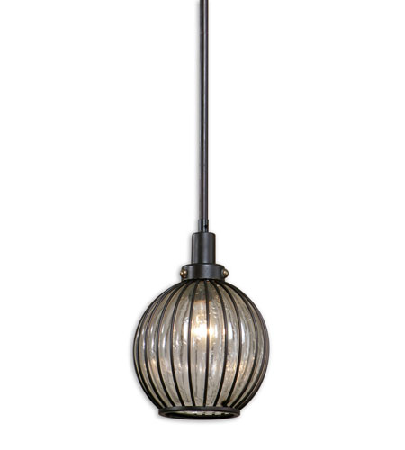 Uttermost Stoughton 1 Light Mini Pendant in Oil Rubbed Bronze 21957