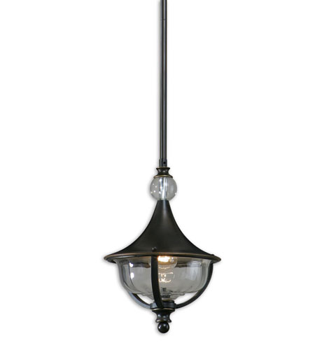 Uttermost Orleon 1 Light Mini Pendant in Oil Rubbed Bronze 21958 photo