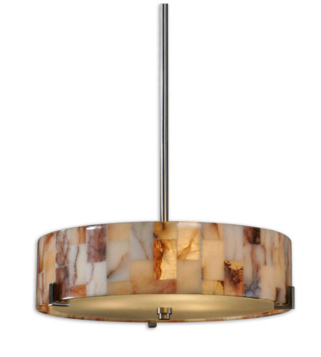 Uttermost Bowers 3 Light Pendant in Brushed Nickel 21960 photo