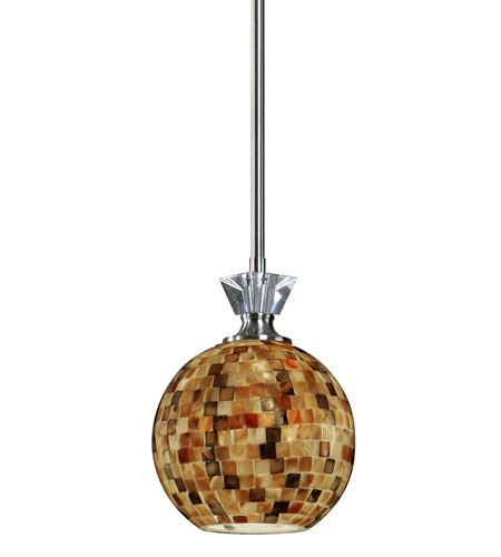 Uttermost Pearlessa 1 Light Mini Pendant in Brushed Nickel 21961 photo
