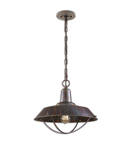 Uttermost 21974 Arcada 1 Light 17 inch Bronze Pendant Ceiling Light photo thumbnail