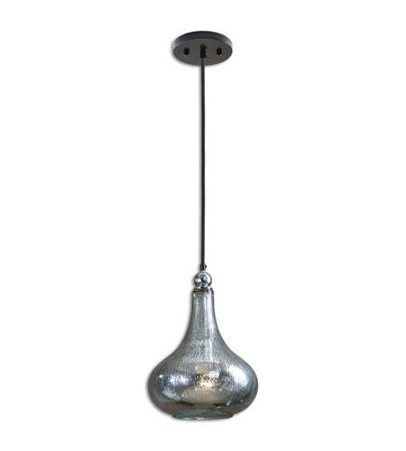 Uttermost 21986 Norbello 1 Light 9 Inch Blue Green Mercury Gl Mini Pendant Ceiling