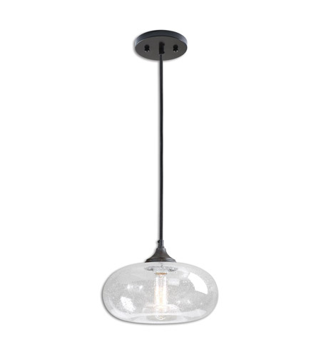Uttermost 21987 Torus 1 Light 11 inch Rust Black Mini Pendant Ceiling Light