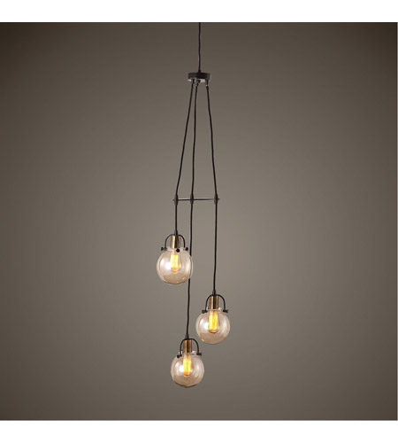 Uttermost 22141 Methuen 3 Light 12 inch Weathered Bronze and Antique Brass Pendant Ceiling Light 22141_Lifestyle.jpg