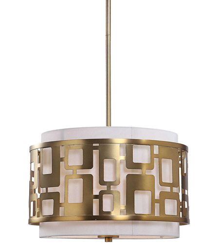 Uttermost 22159 Vecta 3 Light 20 Inch Natural Br Pendant Ceiling