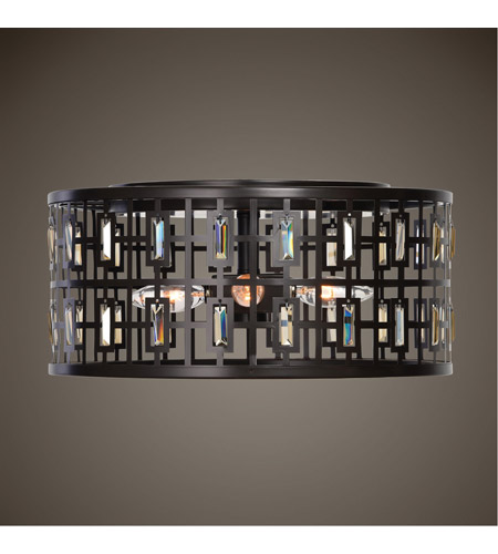 Uttermost 22279 Rhombus 4 Light 15 inch Weathered Bronze Flush Mount Ceiling Light 22279_ls.jpg