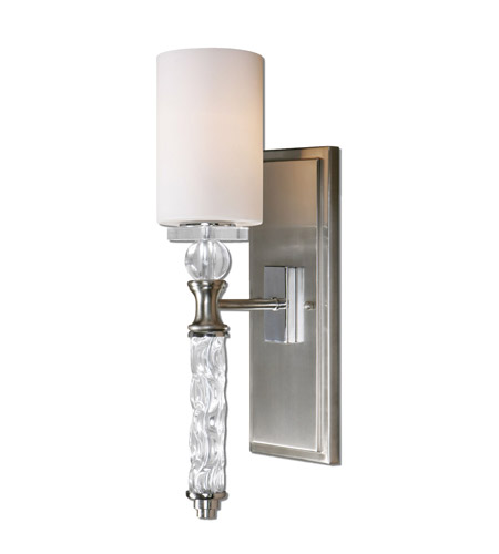 Uttermost Campania 1 Light Wall Sconce in Brushed Nickel 22486 photo