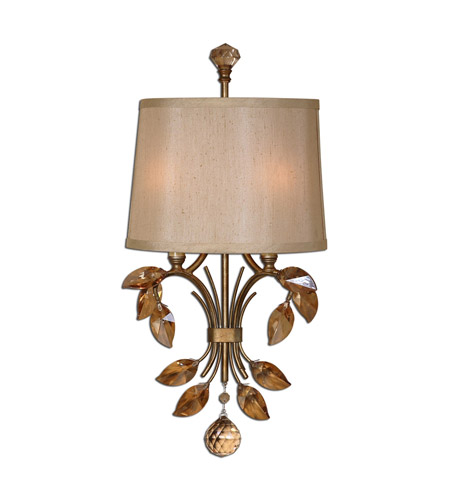 Uttermost Alenya 2 Light Wall Sconce in Burnished Gold 22487 photo