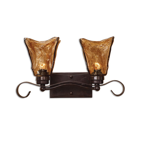 Uttermost 22800 Vetraio 2 Light 17 inch Oil Rubbed Bronze Vanity Strip Wall Light photo