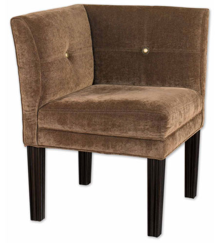 Uttermost Nia Corner Chair in Suede Toffee Fabric 23000 photo