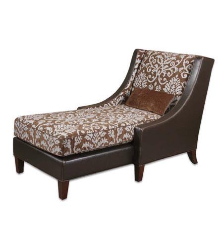 Uttermost Harleigh Chaise Lounge in Chocolate And Beige Woven 23020 photo