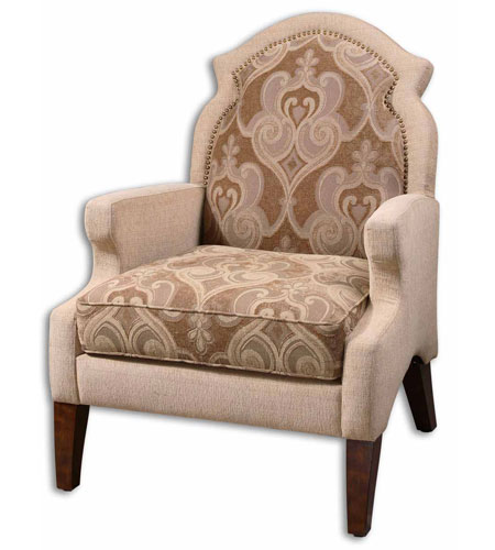 Uttermost 23034 Papyrus Sand Taupe And Warm Beige Tailoring Armchair photo