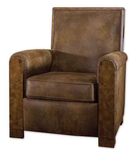 Uttermost Consuelo Pushback Armchair in Distressed Pecan 23035 photo