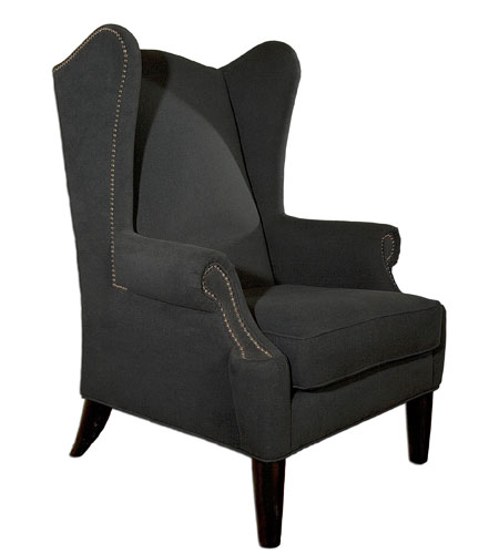Uttermost Taliaferro Armchair in Velvety Brushed Cotton Softness In Dark Graphite 23045 photo