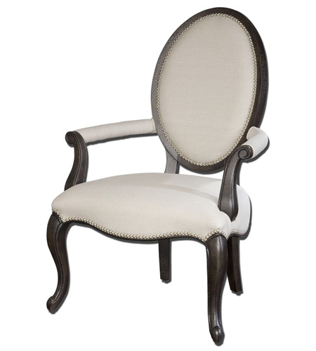 Uttermost Anne Occasional Chair in Antiqued Black Crackle 23079 photo