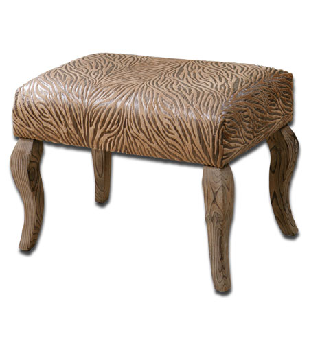 Uttermost 23085 Majandra Sueded Henna Brown Small Bench photo