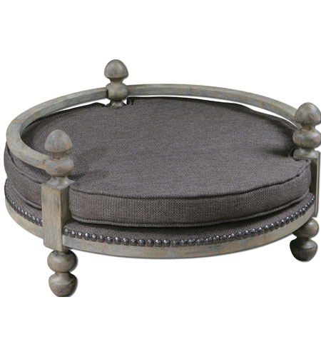 Uttermost 23094 Raesa Weathered Ash Gray Pet Bed