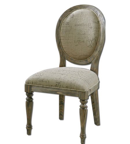 Uttermost Bresselle Armless Chair in Light Tan Wash 23102 photo