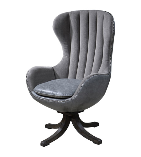Uttermost 23121 Linford Swivel Chair photo