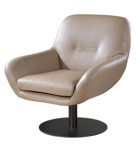 Uttermost 23266 Scotlyn Oil Rubbed Bronze Swivel Chair