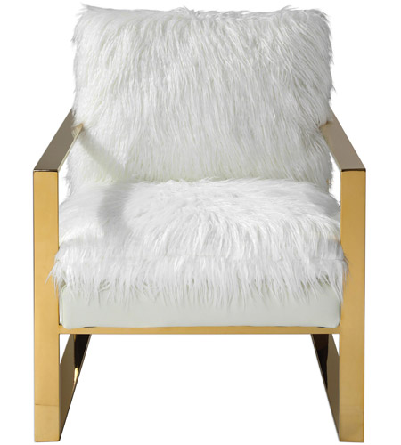 Fabulous Uttermost 23438 Delphine White With Gold Accent Chair Cjindustries Chair Design For Home Cjindustriesco