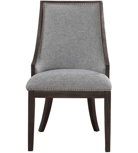Uttermost 23481 Janis Light Denim And Ebony Stain Accent Chair Photo