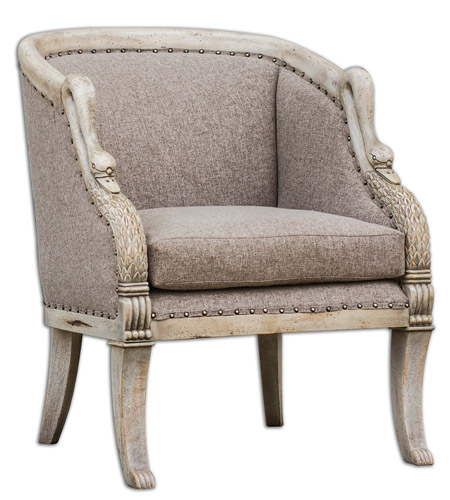 Uttermost 23609 Swaun Antique Bone Armchair