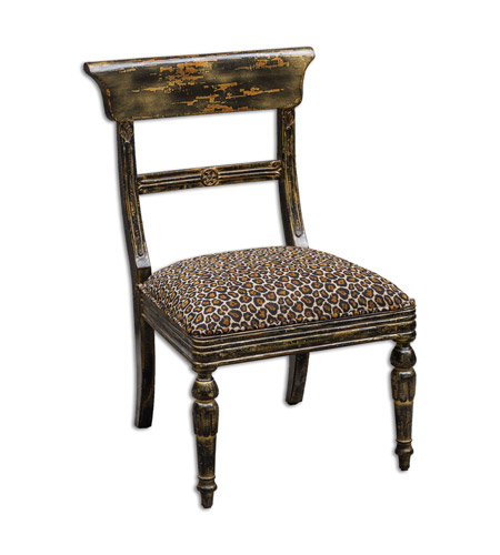 Uttermost 23632 Tambra Leopard Print Accent Chair Photo