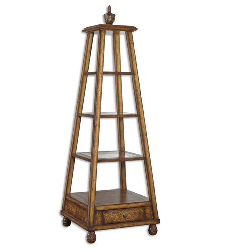 Uttermost 24016 Niveles 72 X 24 inch Richly Antiqued Distressed Willow Oak Etagere