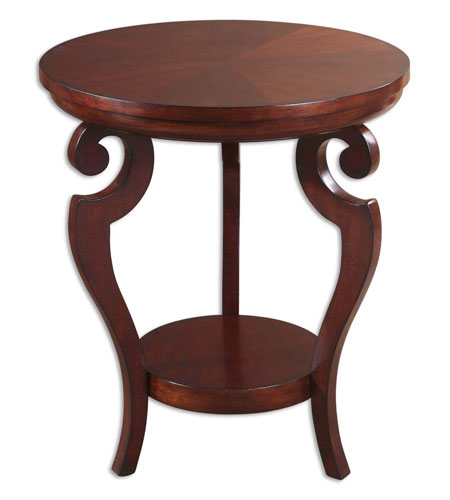 Uttermost 24078 Portia 26 X 22 inch Rich Glowing Cherry Accent Table