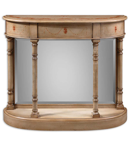 Uttermost Ilario Console Table in Hand Painted Ivory 24167 photo
