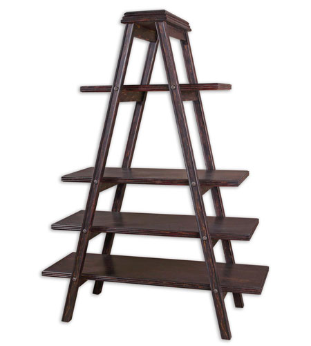 Uttermost Shogun Etagere in Aged Slate Black 24176 photo