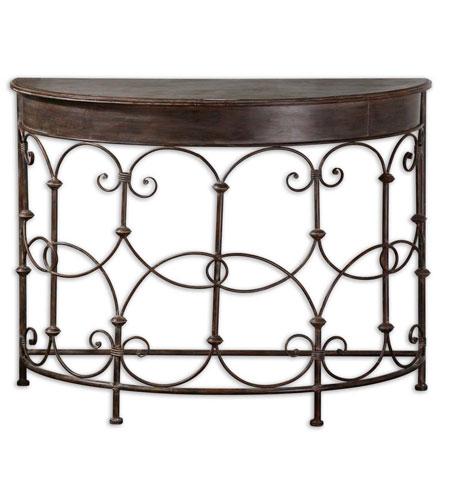 Astounding Uttermost 24185 Cosette 42 Inch Brushed Vintage Graphite Console Table Machost Co Dining Chair Design Ideas Machostcouk