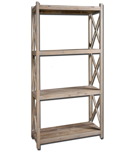 Uttermost 24248 Stratford 79 X 39 inch Reclaimed Fir Wood Etagere photo