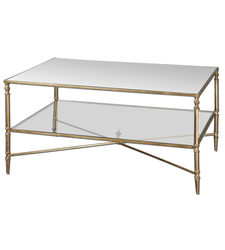 Uttermost 24276 Henzler 38 X 28 inch Gold Leaf Coffee Table Home Decor photo