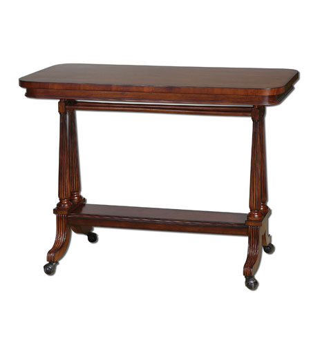 Uttermost Cormac Sofa Table in Dark Cherry Stain 24284 photo