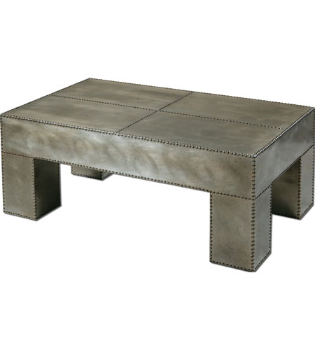 Uttermost Razi Coffee Table in Industrial Silver 24289 photo