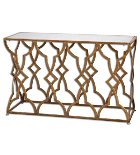 Uttermost 24397 Osea 52 inch Gold Console Table photo