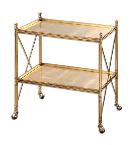 Uttermost 24464 Amaranto Gold Serving Cart photo