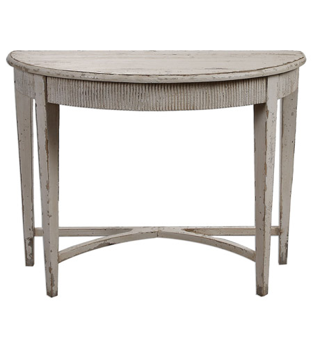 Uttermost 24535 Parisio 43 X 20 inch Antique White Console Table