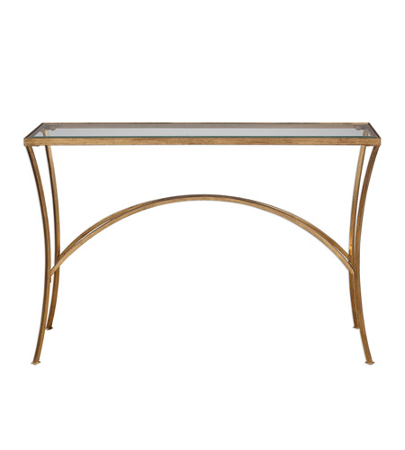 Alayna 48 x 10 inch antiqued gold leaf console table home for 10 inch console table